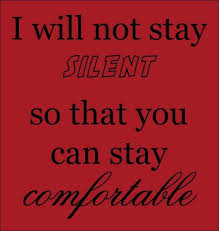 I will not stay silent.....