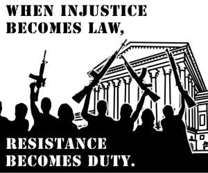 When injustice become law.......