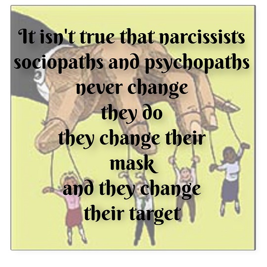 Narcissists/Socio/Psychopaths